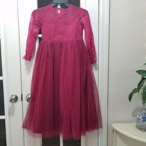 Beautiful Girls NWT Wine Dress